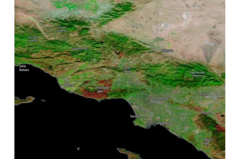 A scar that the Woolsey Fire left behind
