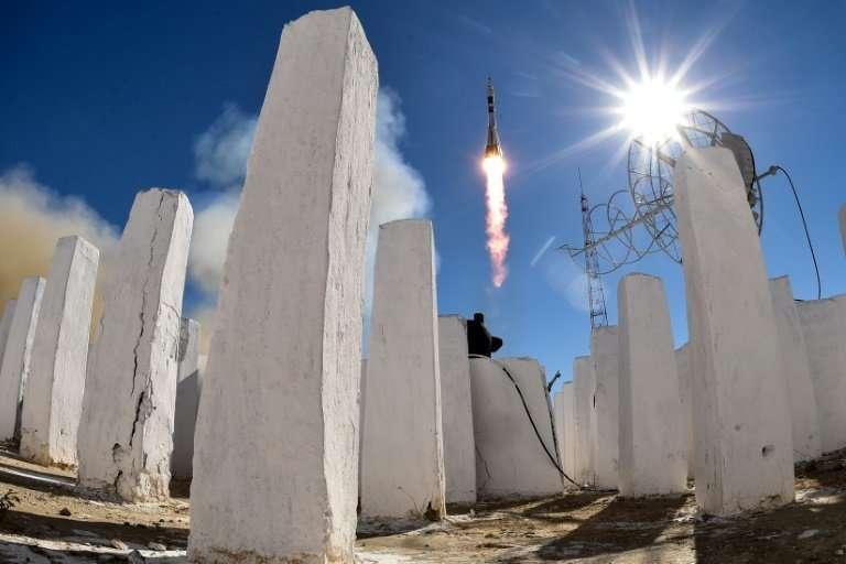 A Soyuz rocket failure forced a two-man crew to make an emergency landing in Kazakhstan on Thursday