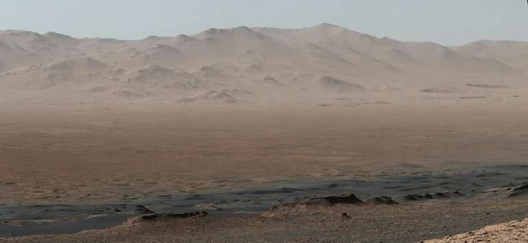 A telephoto vista of Mars' Gale Crater taken by NASA's Curiosity Mars rover on October 25, 2017
