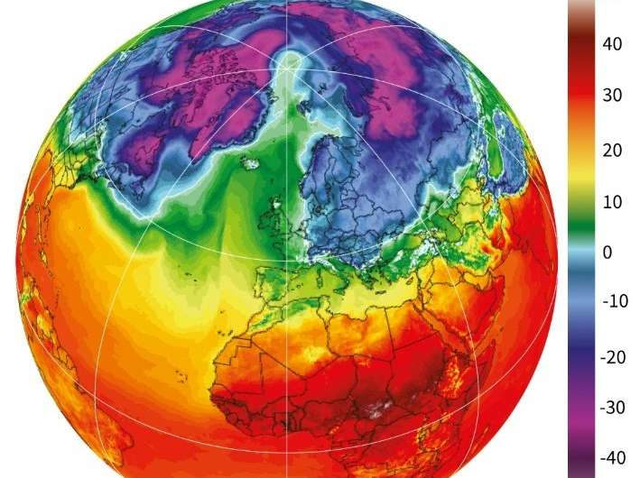 Balmy weather at the North Pole