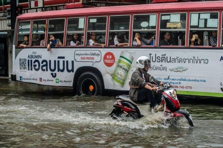 Bangkok is already 'largely under sea level' and monsoon season often brings flooding to the Thai capital