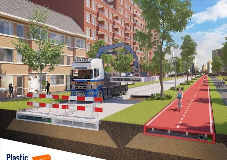 Bike-path made from recycled plastic opens in the Netherlands