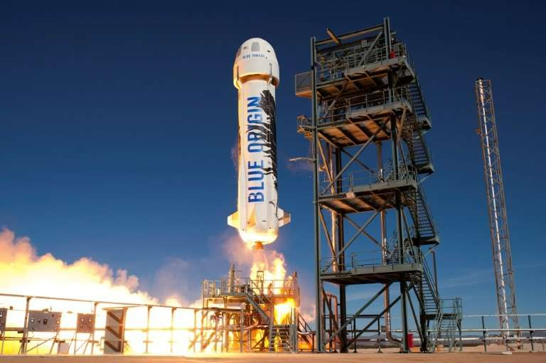 Blue Origin has developed a system similar to a traditional rocket: the New Shepard
