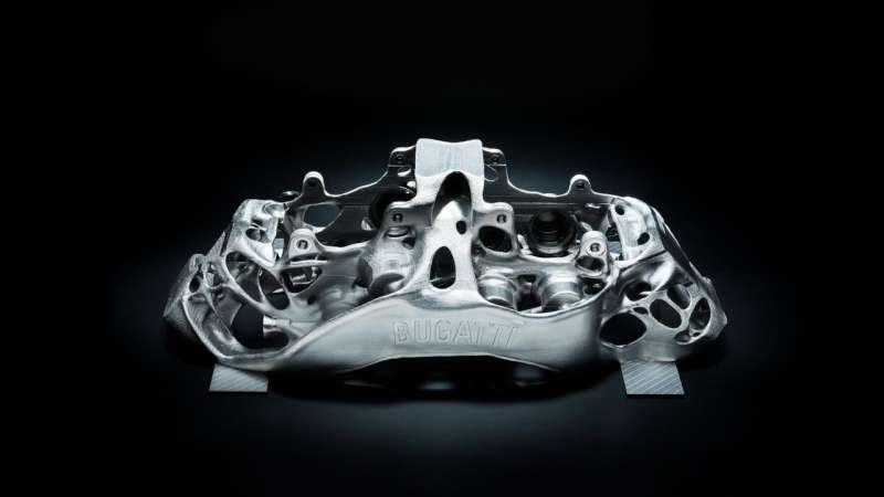 Bugatti eyes 3-D printing with titanium