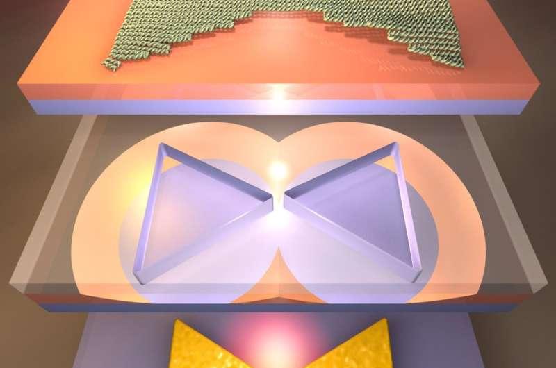 Building miniature optical antennas using DNA as a guide