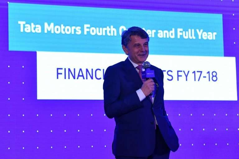 Chief executive officer of Jaguar Land Rover, Dr. Ralf Speth, speaks at a press conference to announce the fourth-quarter and fu