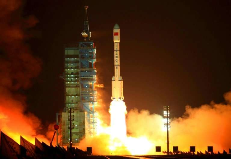 """China's Tiangong-1 or """"Heavenly Palace"""" spacelab was put into into orbit in September 2011"""