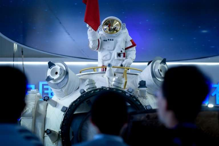 China unveiled a partial model of its manned space station at an aerospace fair in Zhuhai
