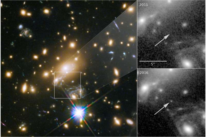 Cosmic lens helps Hubble capture image of most distant star ever seen