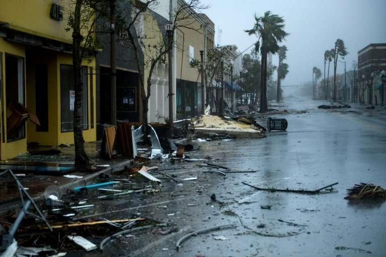 Damage caused by Hurricane Michael in Panama City, Florida