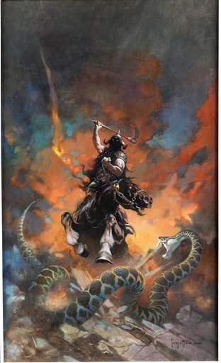 Death Dealer painting outshines Superman comic at auction