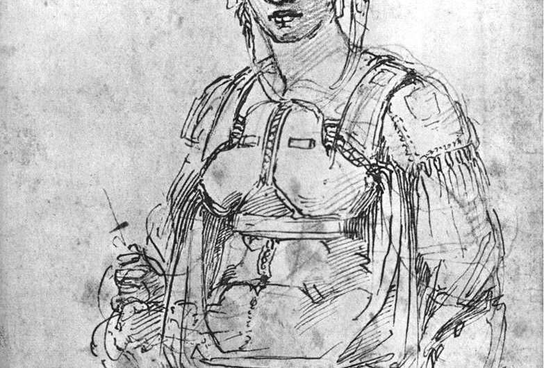 Did Michelangelo include a hidden caricature of himself in one of his famous sketches?