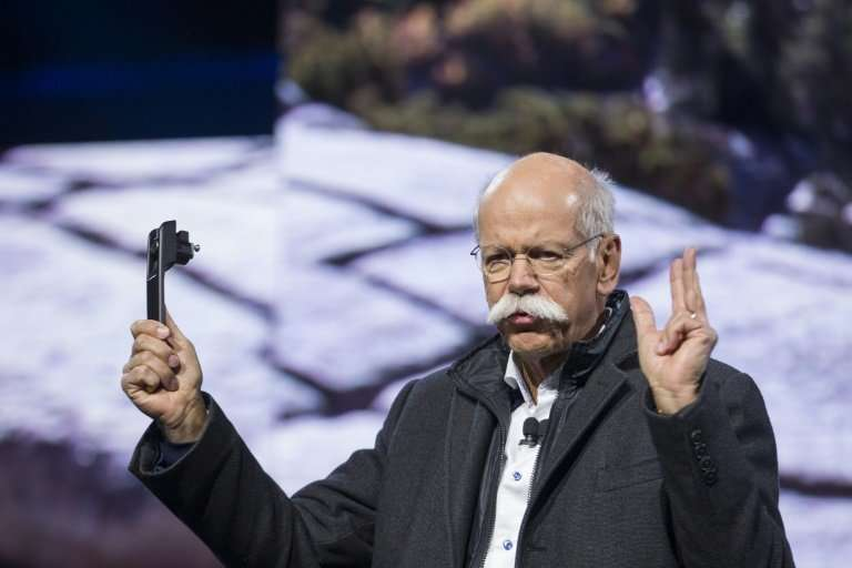Dieter Zetsche, chairman of the management board of Daimler, says his company is struggling to meet tightened European emissions
