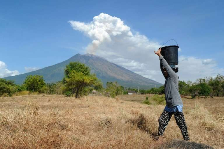 Dozens of Bali flights were cancelled in June when Mount Agung last erupted and shot a plume of ash and smoke more than 1,000 me