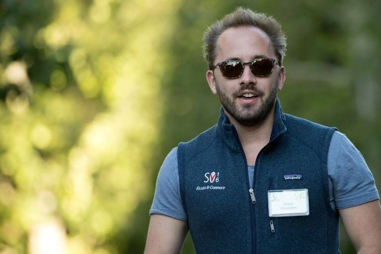 Drew Houston, founder and chief executive officer of Dropbox, which filed for an IPO Friday, is seen at a 2016 business conferen