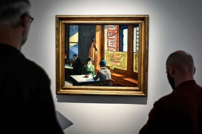 """Edward Hopper's 1929 painting """"Chop Suey"""" sold at aunction in New York for $91.875 million after being valued pre-sale"""