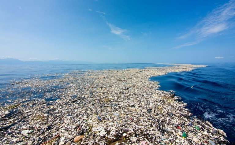 Eight million tonnes of plastics enter the oceans every year, much of which has accumulated in five giant garbage patches around