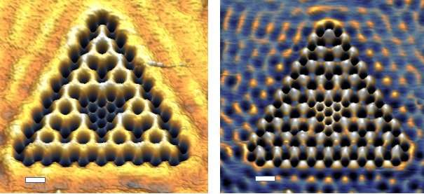 """""""Electrons in 1.58 dimensions? What the frac!"""" Utrecht physicists build fractal shape out of electrons"""