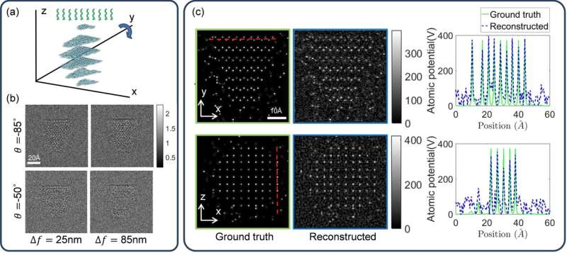 Electron tomography technique leads to 3-D reconstructions at the nanoscale
