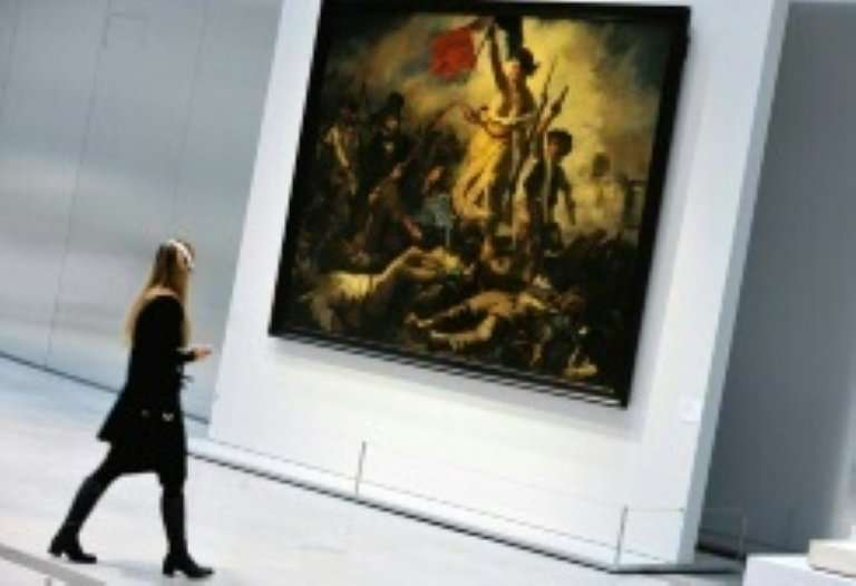 """Eugene Delacroix's famous painting, """"Liberty Leading the People"""", was temporarily banned on Facebook because it depict"""