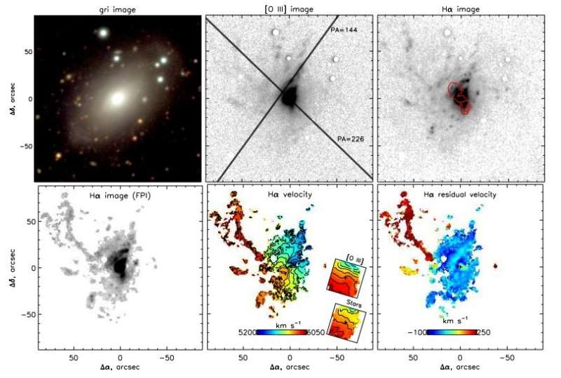 Extended emission filaments found in the galaxy Markarian 6