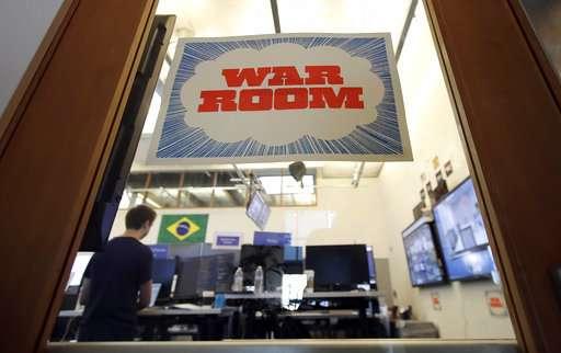 Facebook's election 'war room' takes aim at fake information