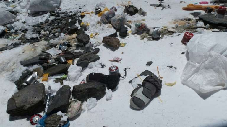 Five years ago Nepal implemented a $4,000 rubbish deposit per team that would be refunded if each climber brought down at least