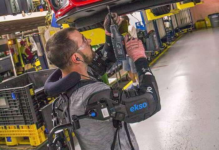 Ford, exoskeleton company address strain in overhead tasks