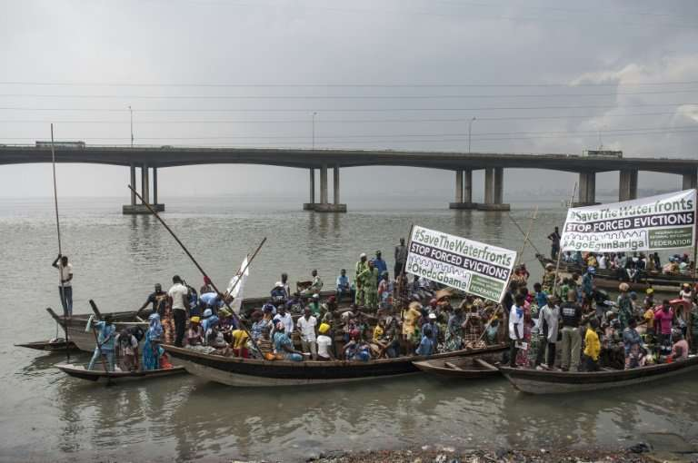 Former residents of Otodo Gbame staged a waterborne protest over their eviction