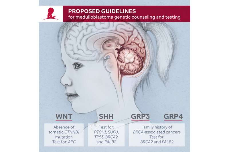 Genetic counseling and testing proposed for patients with the brain tumor medulloblastoma