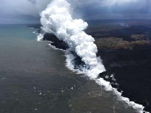 Hawaii lava crosses key highway, destroys utility poles