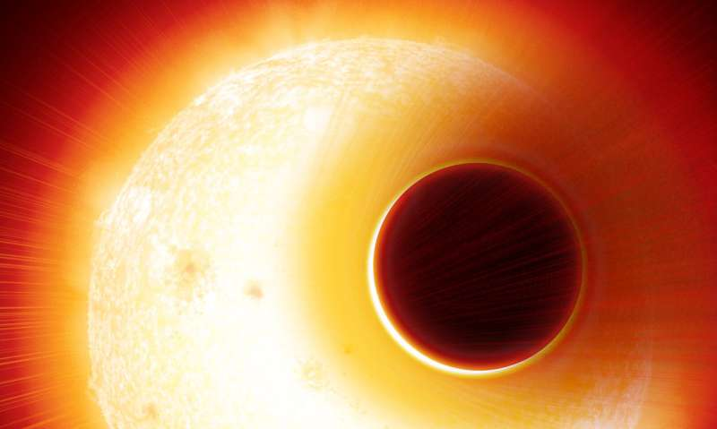 Helium exoplanet inflated like a balloon, research shows