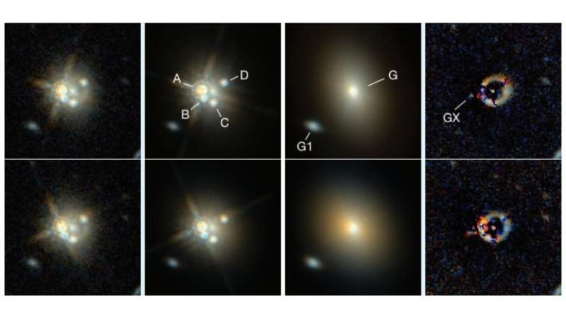 Highly magnified gravitationally lensed red quasar detected by astronomers