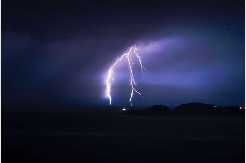 How far away was that lightning?