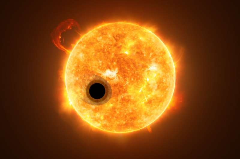 Hubble detects helium in the atmosphere of an exoplanet for the first time