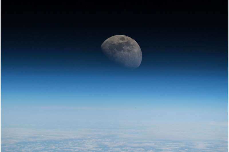 Image: A closer view of the moon