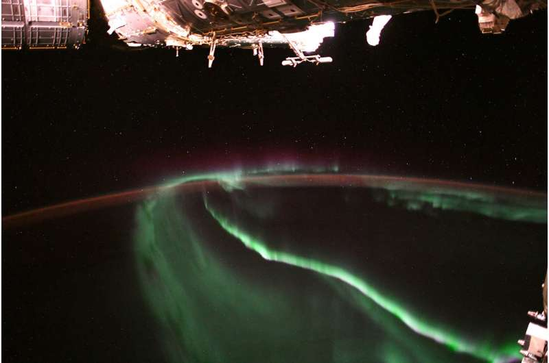 Image: Aurora observed from orbit