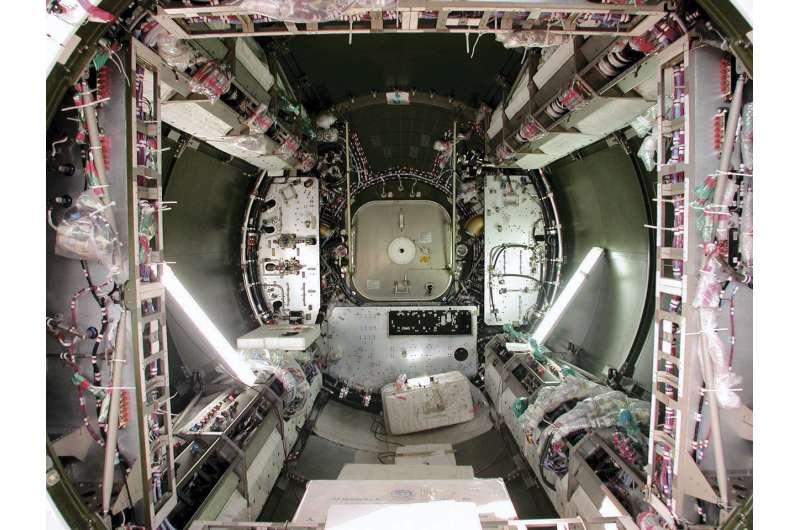 Image: Columbus module stripped