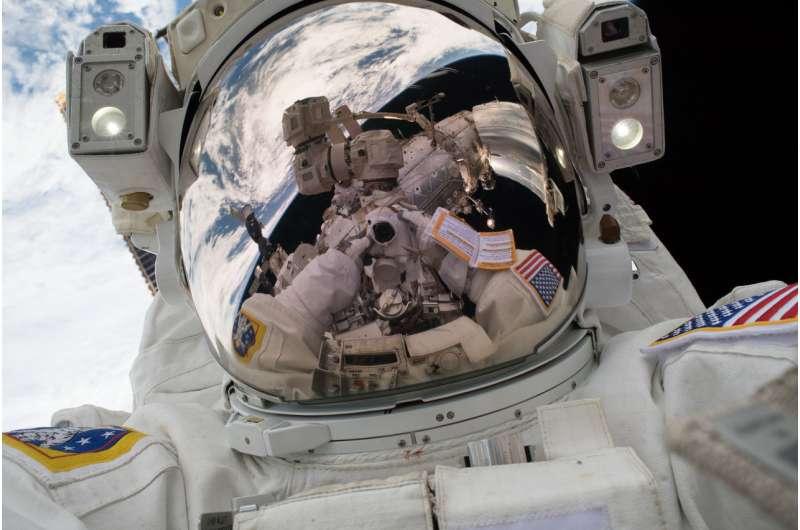 Image: Mark Vande Hei's 'space selfie'