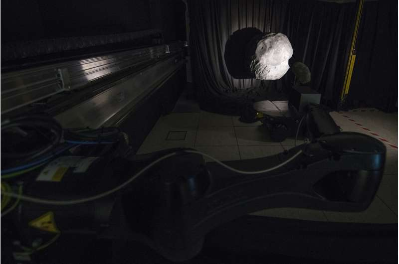 Image: Simulating the darkness of space