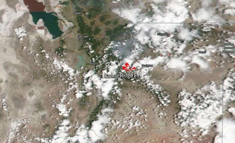 Image: Utah's Dollar Ridge fire explodes after July 1 Start