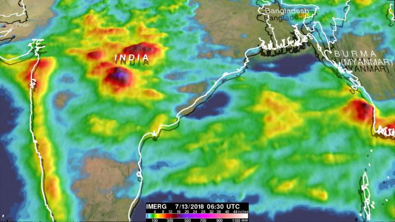India's deadly monsoon rainfall measured with NASA's IMERG