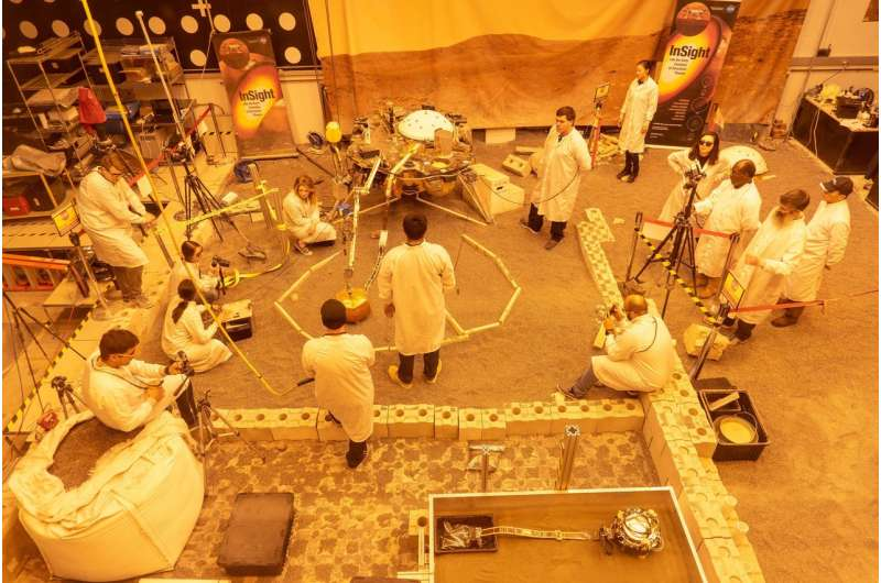 InSight Engineers Have Made a Martian Rock Garden