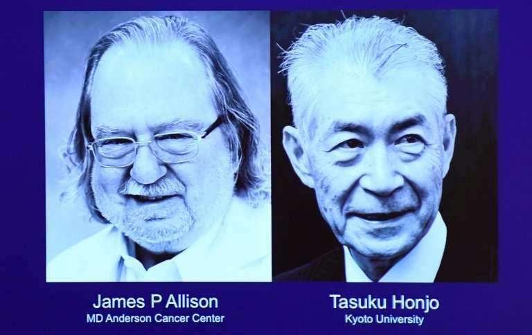 James Allison of the US and Tasuku Honjo of Japan have won the 2018 Nobel Medicine Prize