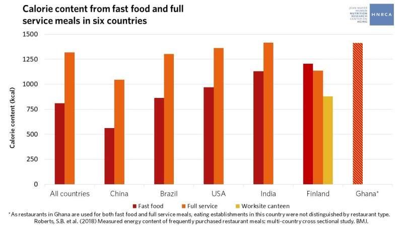 Large restaurant portions a global problem, study finds