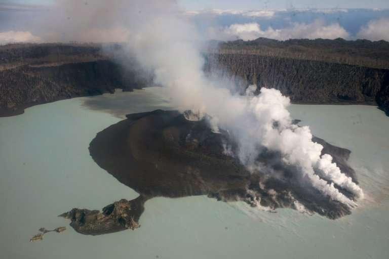 Last year's volcanic eruption in Vanuatu forced 11,000 people to evacuate Ambae Island