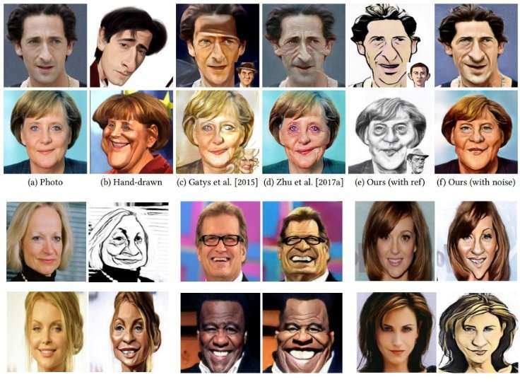 Let's draw!: New deep learning technique for realistic caricature art
