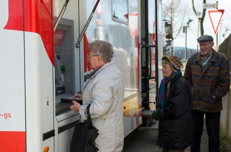 Local businesses and older people in particular are taking advantage of the mobile banking branch, said Steffen Haberzettl, sale