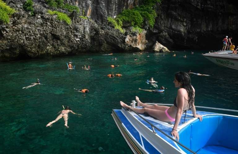 Made famous by the 2000 movie 'The Beach' starring Leonardo DiCaprio, Maya Bay on the western Thai island of Koh Phi Phi Ley is