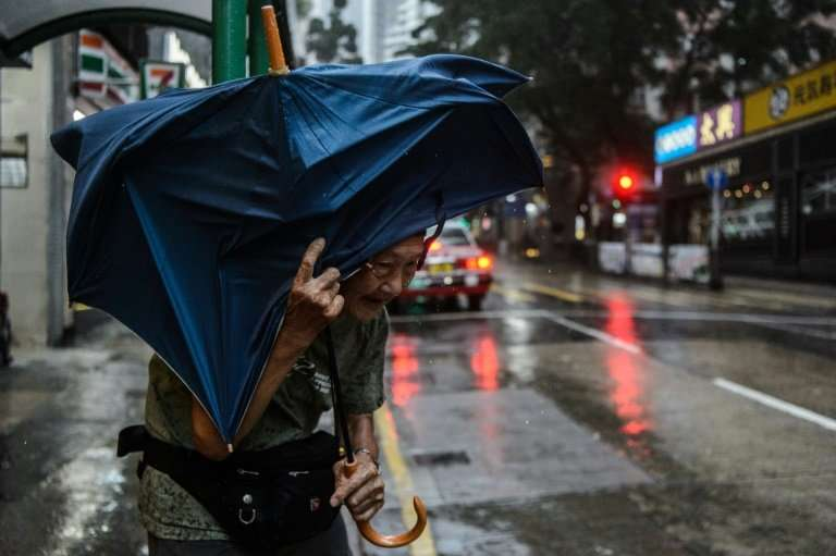 Mangkhut was packing sustained winds of 175kph (110mph) as it hurtled toward China's heavily populated southern coast